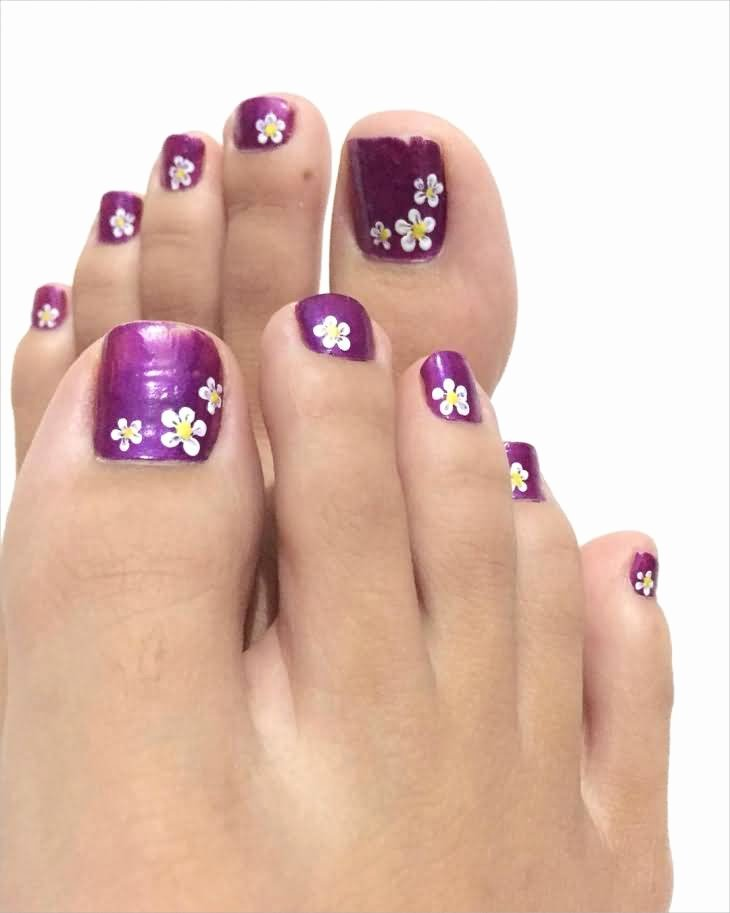 Nail Art Designs for toes New 35 Stylish Purple Nail Art Designs for toe Nails