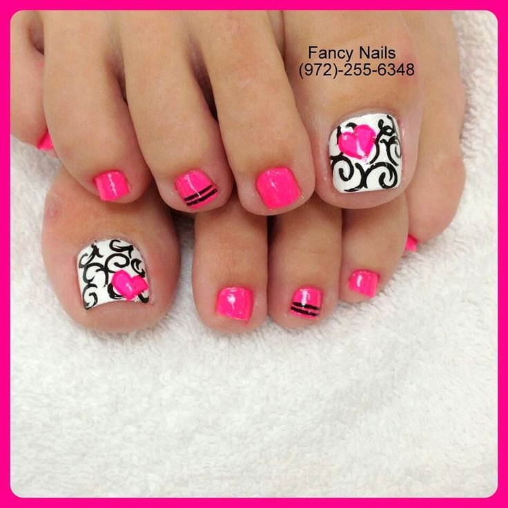 Nail Art Designs for toes Unique 40 Pink toe Nail Art Design Ideas