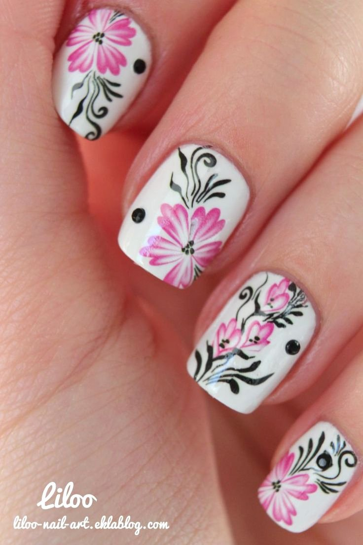 Nail Art Designs Videos Awesome Awesome Flower Nail Designs