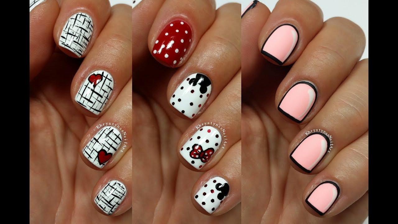 Nail Art Designs Videos Best Of 3 Easy Nail Art Designs for Short Nails Freehand 5