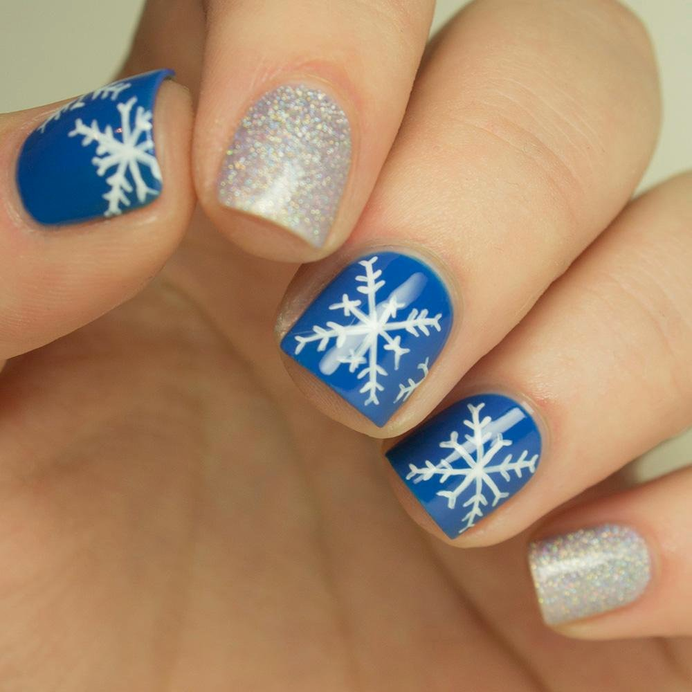 Nail Art Designs Videos Inspirational Nail Art How to Snowflake Design