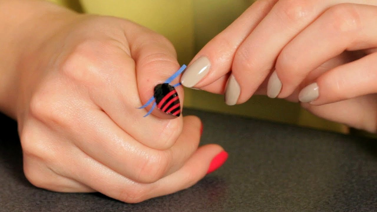 Nail Art Designs Videos New How to Do A Stripe Design with Tape