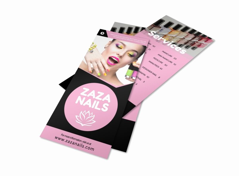 Nail Price List Template Awesome Nail Salon Price List Flyer Template
