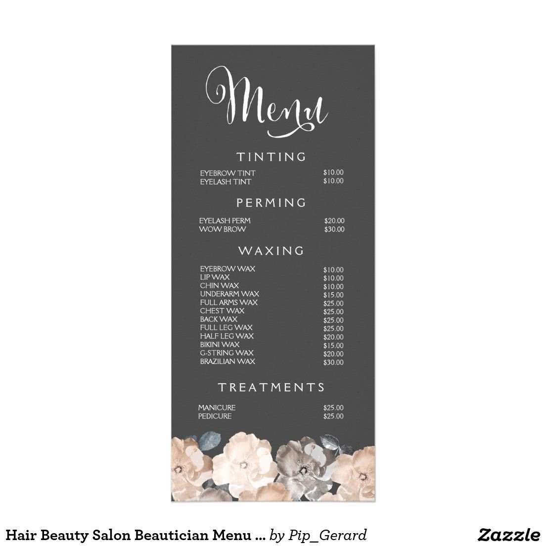 Nail Price List Template Elegant Spa Menu Template Google Search Spa Ideas