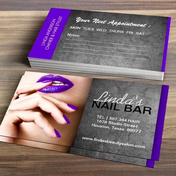 Nail Price List Template Unique Nail Technician Business Card