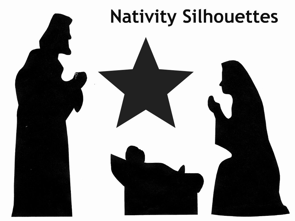 Nativity Scene Silhouette Printable Elegant Family Advent Calendar Day 12 Make A Shadow Puppet