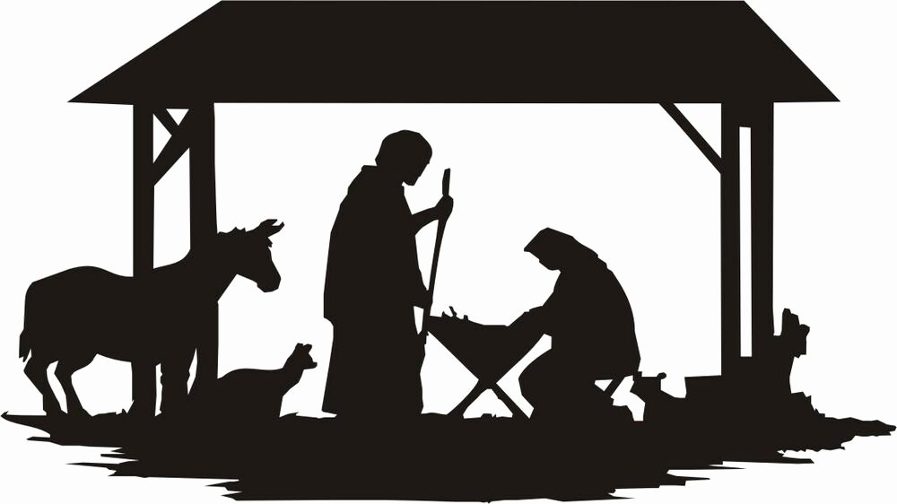 Nativity Scene Silhouette Printable Lovely Nativity Silhouette Large N405 Woodworking Christmas Yard