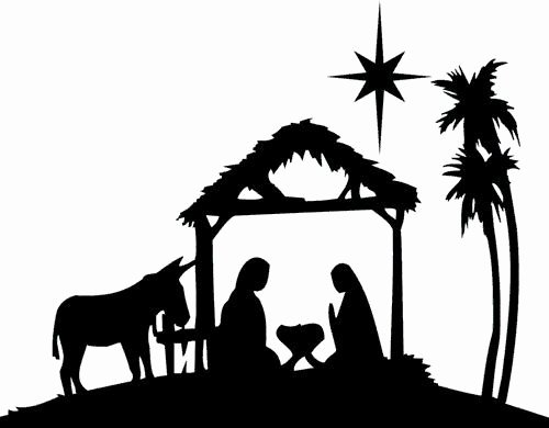 Nativity Scene Silhouette Printable Luxury Gallery for Nativity Silhouette Template Cliparts