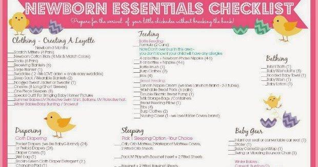 New Baby Checklist Printable Inspirational E Savvy Mom ™