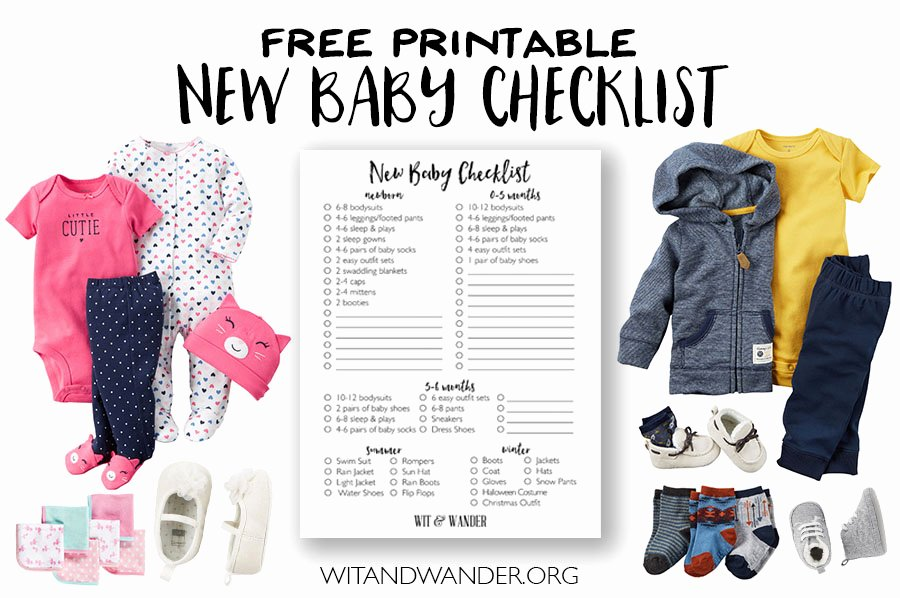 New Baby Checklist Printable New New Baby Checklist Prepping for Baby Our Handcrafted Life