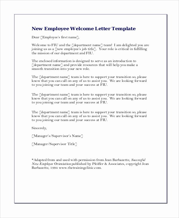 New Employee Welcome Letter Awesome Sample Greeting Letter 6 Examples In Word Pdf