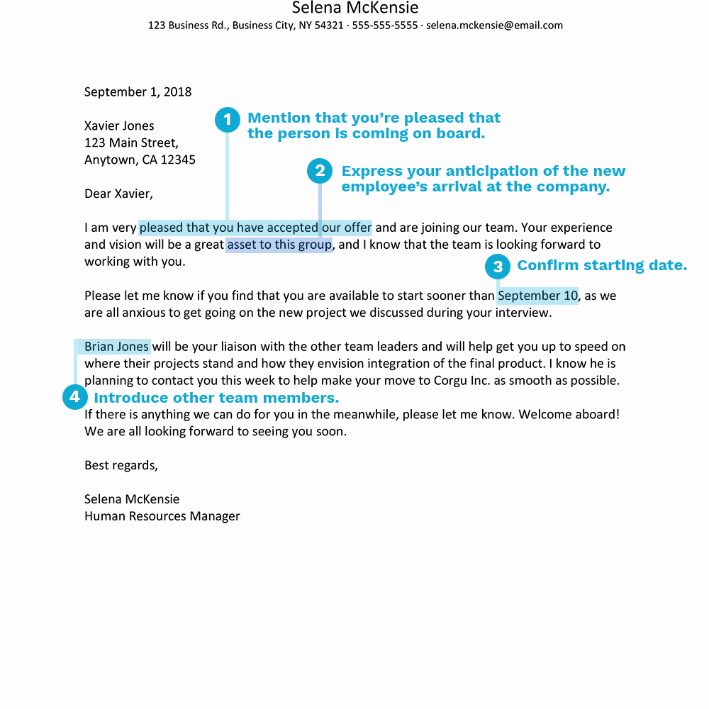 New Employee Welcome Letter Elegant How to Write A Wel E Aboard Letter with Examples