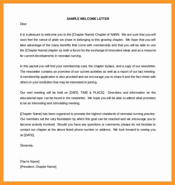 New Hire Letter Samples Fresh 12 13 New Employee Wel E Letter Sample Template