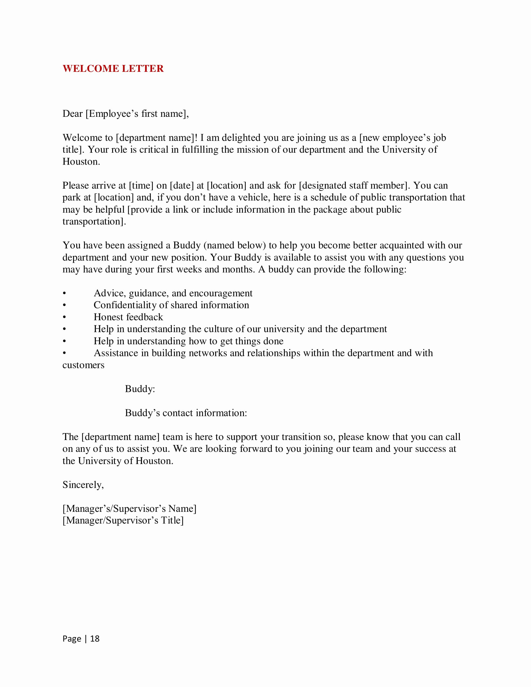 New Hire Letter Samples Lovely 9 New Hire Wel E Letter Examples Pdf