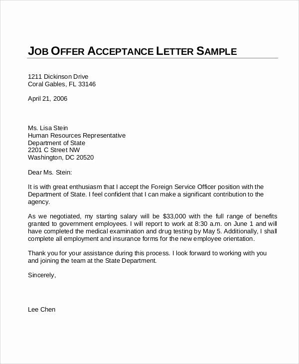 New Hire Letter Samples New Sample Fer Letter 10 Examples In Word Pdf