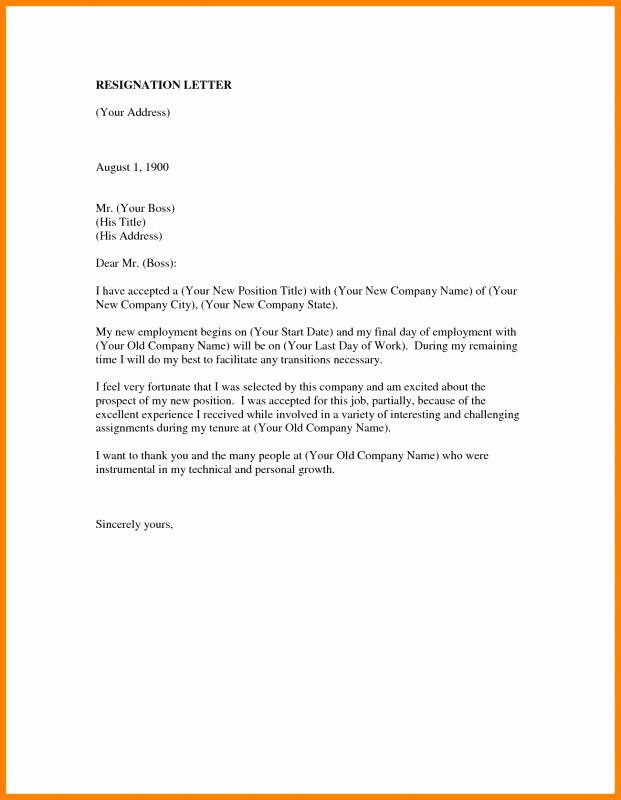 New Job Resignation Letter Awesome Employee Resign Letter
