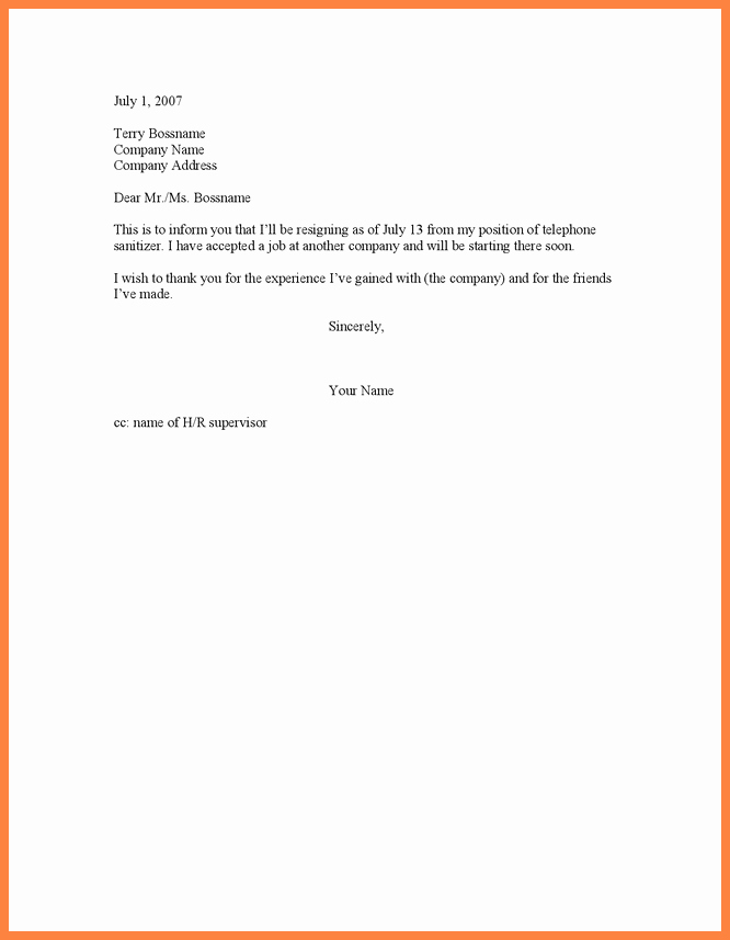 New Job Resignation Letter Inspirational 5 Job Leave Notice Letter