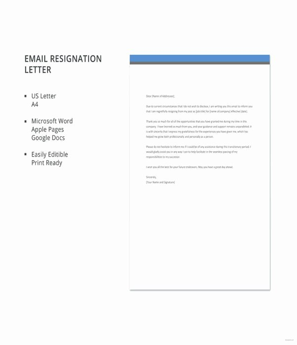 New Job Resignation Letter Unique 10 New Job Resignation Letters Pdf Doc