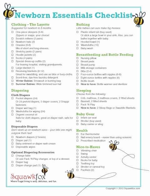 Newborn Essentials Checklist Awesome Newborn Essentials Checklist Newborn Baby Essential