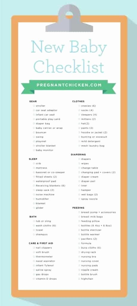 Newborn Essentials Checklist Beautiful New Baby Checklist What to Get when Expecting