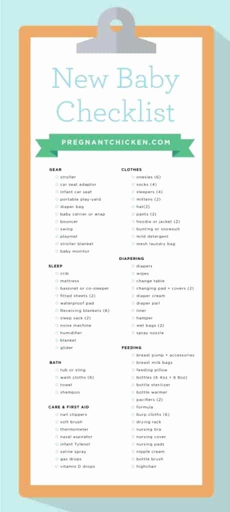 Newborn Essentials Checklist Beautiful New Baby Checklist What to Get when Expecting