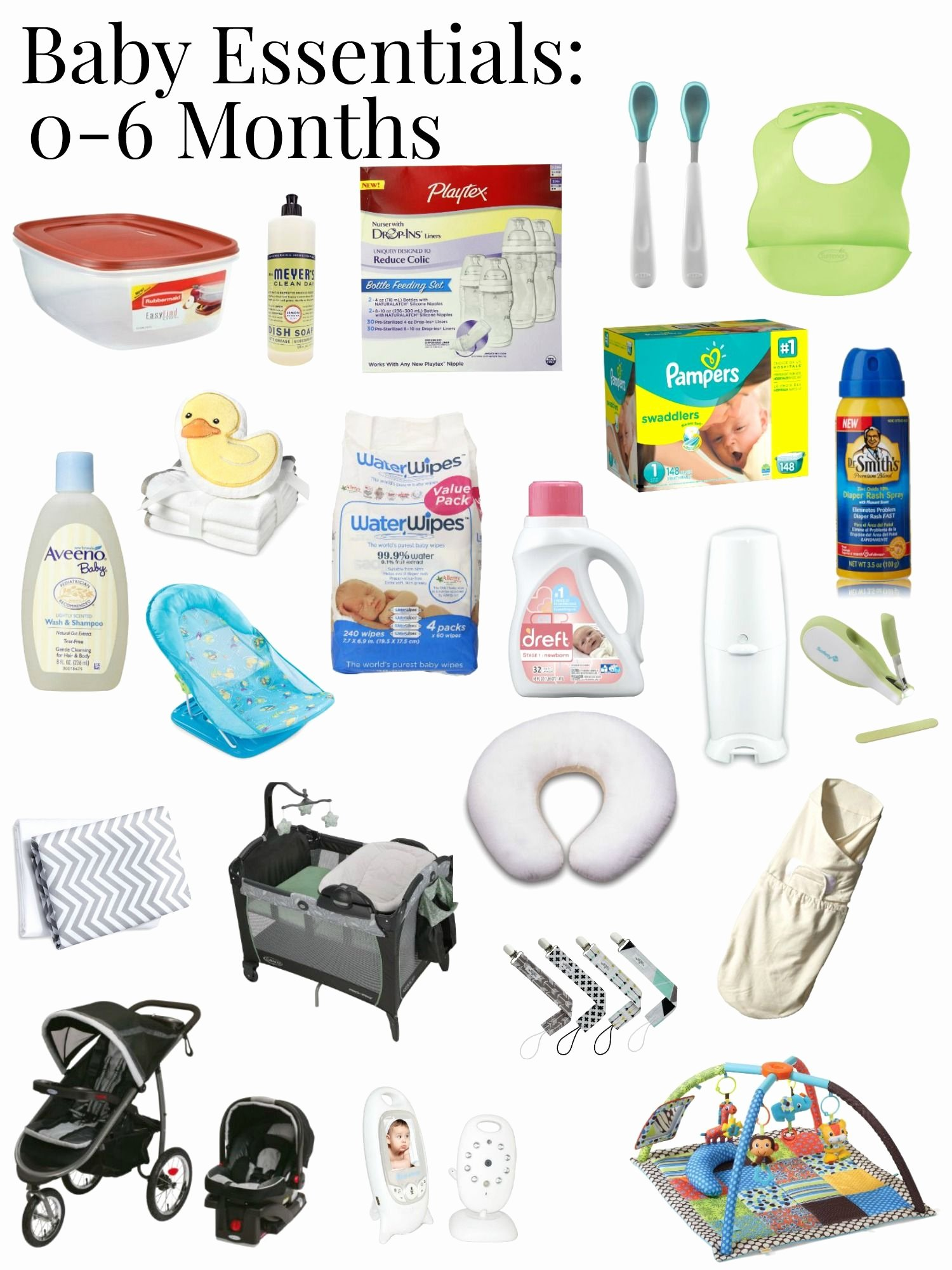 Newborn Essentials Checklist Best Of A Great List Of True Baby Essentials for the First 6