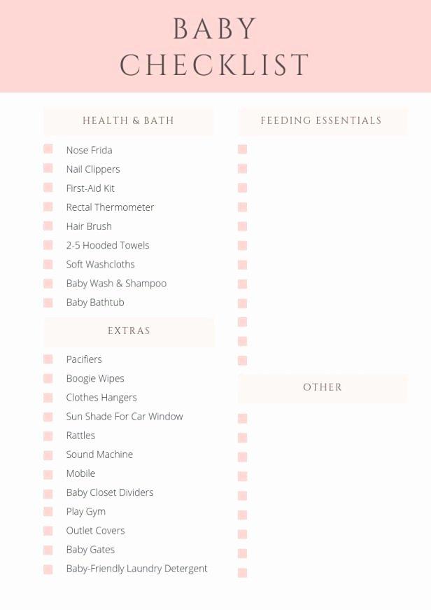 Newborn Essentials Checklist Best Of Baby Checklist the Essentials You Need before Your