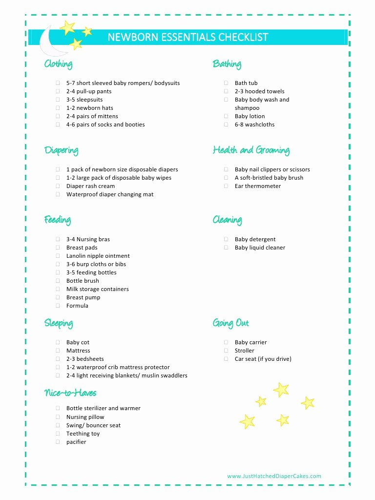 Newborn Essentials Checklist Best Of Newborn Essentials Checklist by Kyaw May T Pdf Archive