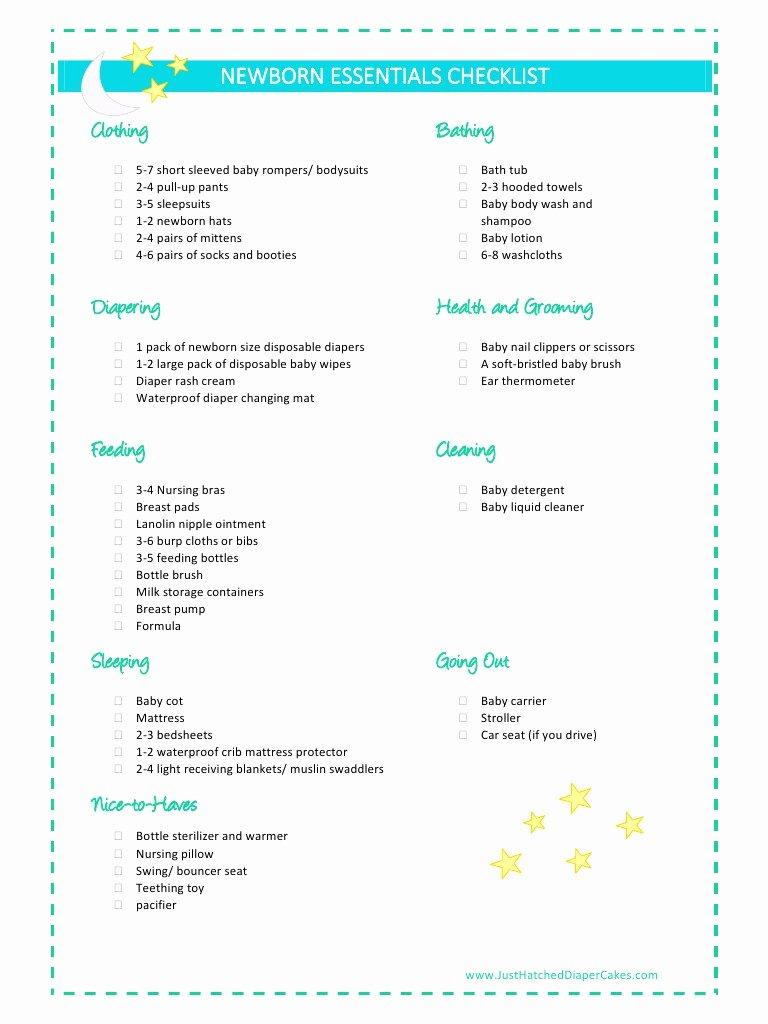 Newborn Essentials Checklist Best Of Newborn Essentials Checklist by Kyaw May T Pdf Archive