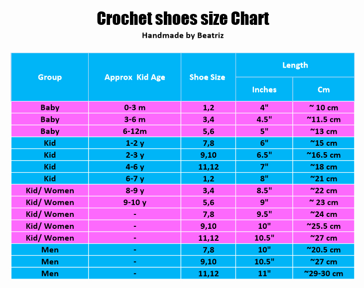 Newborn Shoes Size Chart Awesome 15 Free Size Chart Templates Docx Pdf Ms Word