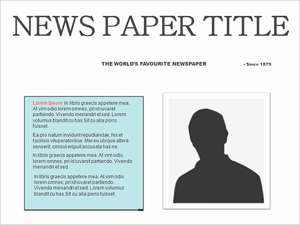 Newspaper Article Template for Students Awesome Free Newspaper Template 10 Blank Google Docs Word