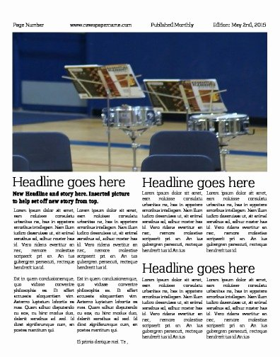 Newspaper Article Template for Students Best Of Newspaper Templates for Students