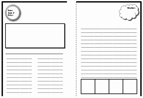 Newspaper Article Template for Students New New Blog E Newspaper Template