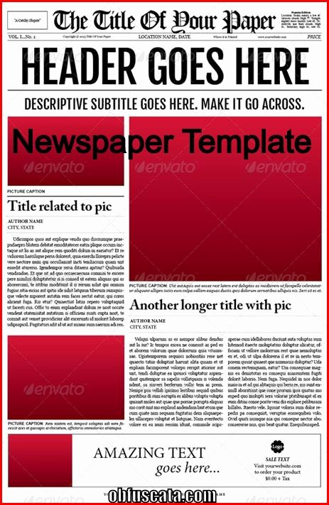 Newspaper Article Template for Students New Points to Note In A Newspaper Template