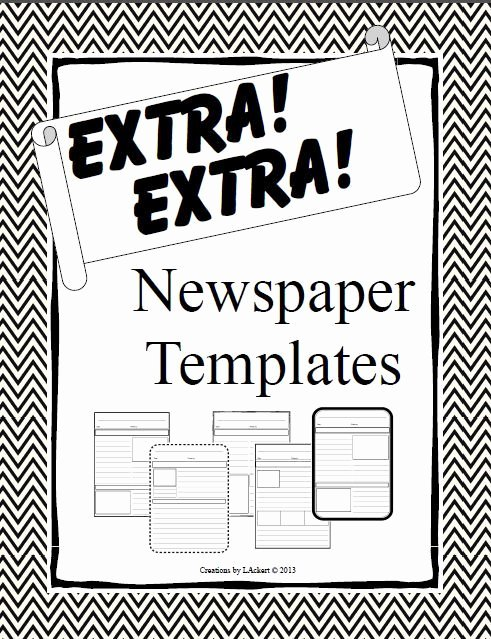 Newspaper Article Template for Students Unique 131 Best Images About Writing Templates for Students On