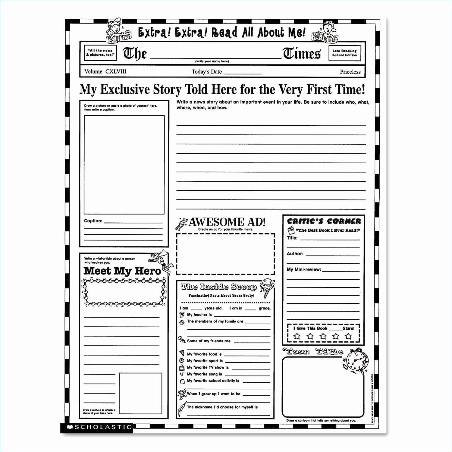 Newspaper format Google Docs Beautiful Blank Newspaper Template Google Docs