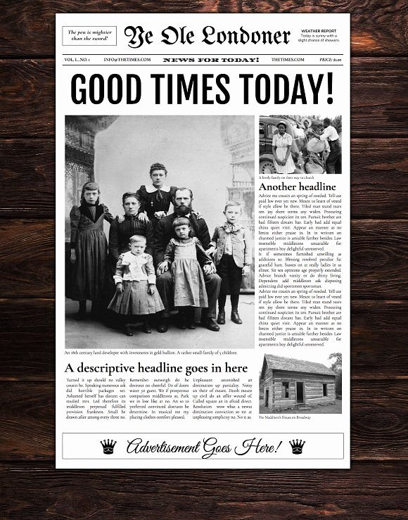 Newspaper format Google Docs Beautiful Google Docs Old Newspaper Template by Newspaper