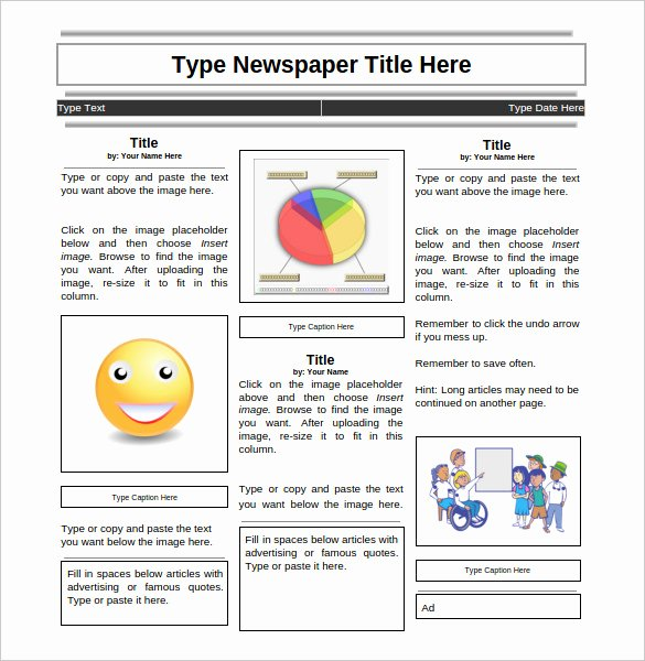 Newspaper format Google Docs Elegant 18 News Paper Templates Word Pdf Psd Ppt