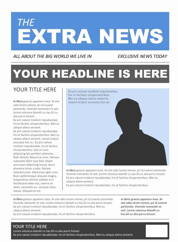 Newspaper format Google Docs Fresh 25 Free Google Docs Newspaper and Newsletter Template for