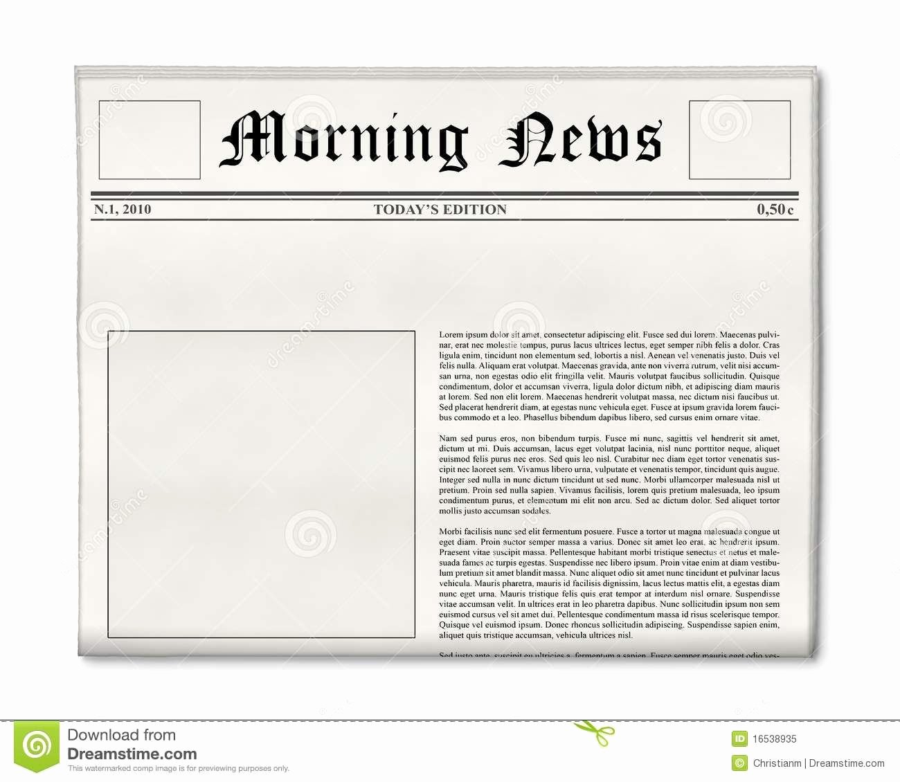 Newspaper Front Page Template Beautiful Blank Newspaper Layout Google Search
