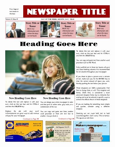 Newspaper Front Page Template Beautiful Free Newspaper Templates Print and Digital
