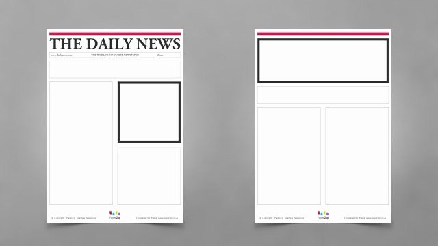 Newspaper Front Page Template Elegant Blank Newspaper Templates Paperzip