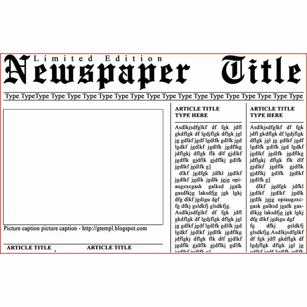 Newspaper Front Page Template Fresh Newspaper Layout Templates Excellent sources to Help You