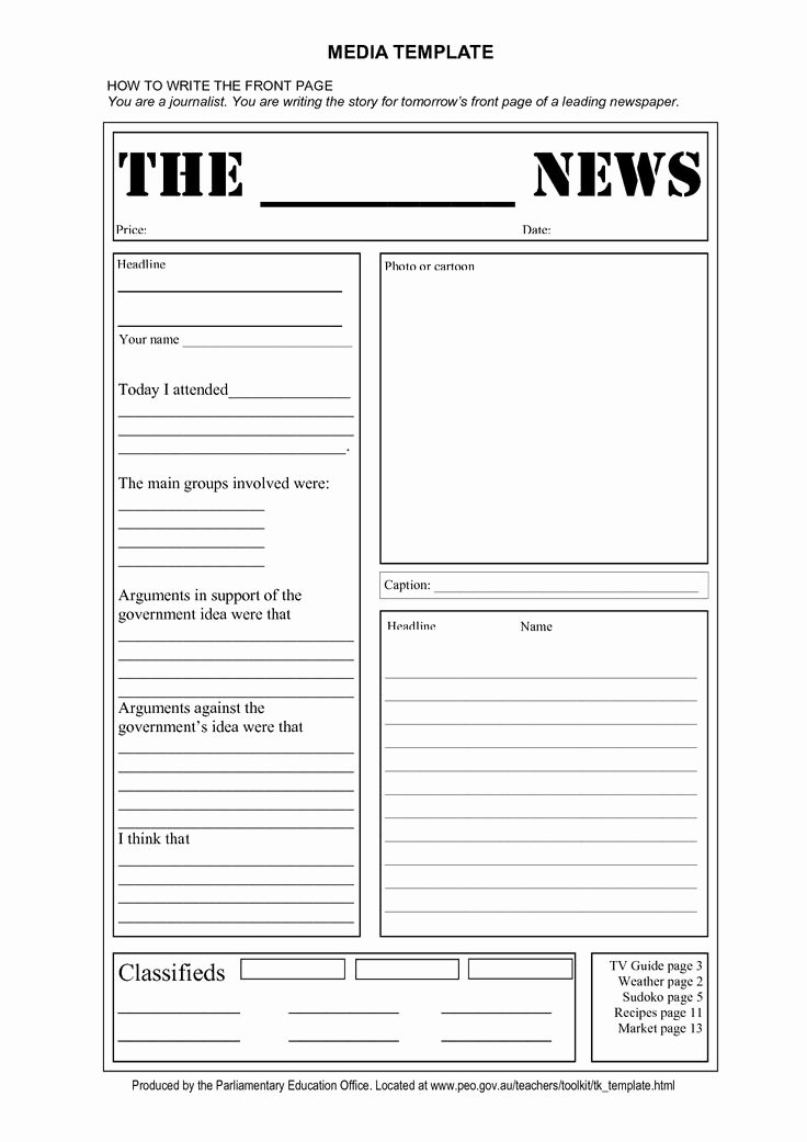 Newspaper Front Page Template Inspirational Free Tag Template
