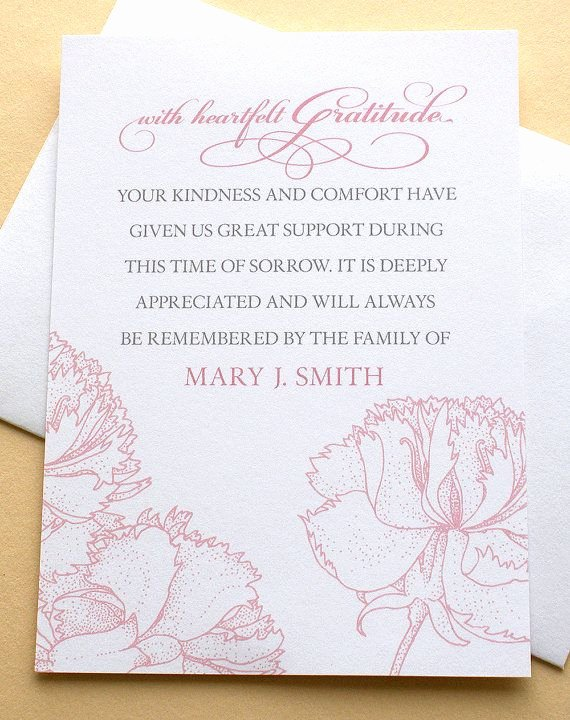 Newspaper Thank Yous after Funeral Awesome Let Me Create A Custom Sympathy Thank You Card the Last