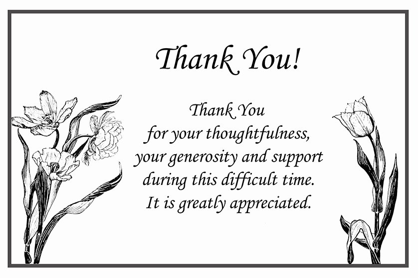 Newspaper Thank Yous after Funeral Best Of Printable Thank You Cards – Free Printable Greeting Cards