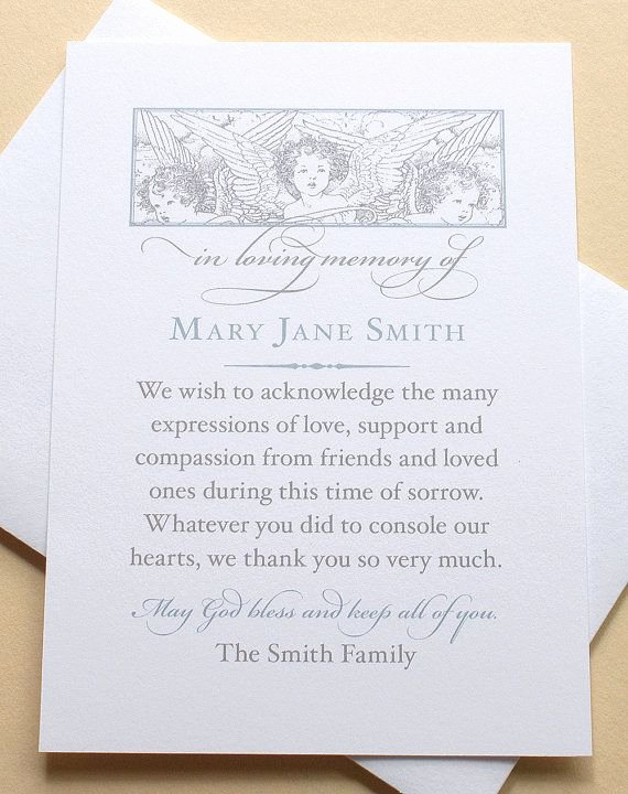 Newspaper Thank Yous after Funeral Fresh 16 Best Funeral Thank You Card Images On Pinterest