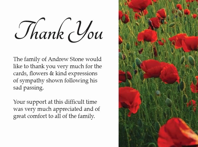 Newspaper Thank Yous after Funeral Unique 16 Best Funeral Thank You Card Images On Pinterest