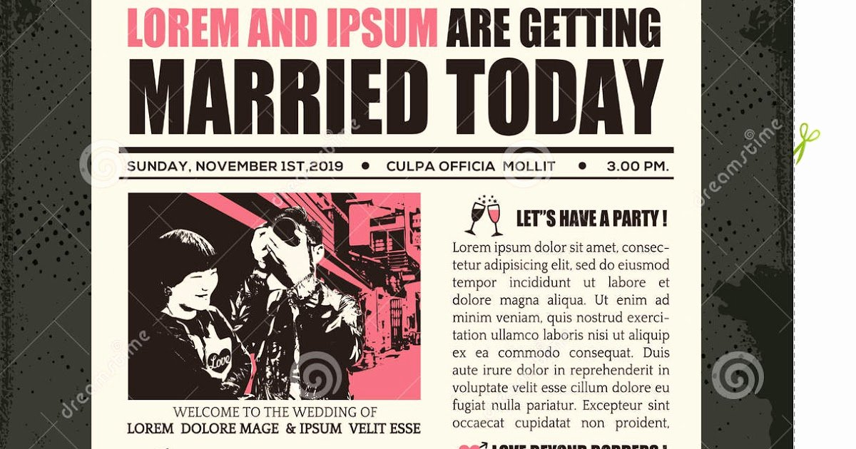 Newspaper Wedding Announcement Template Awesome Wedding Invitation Wording Wedding Invitation Newspaper