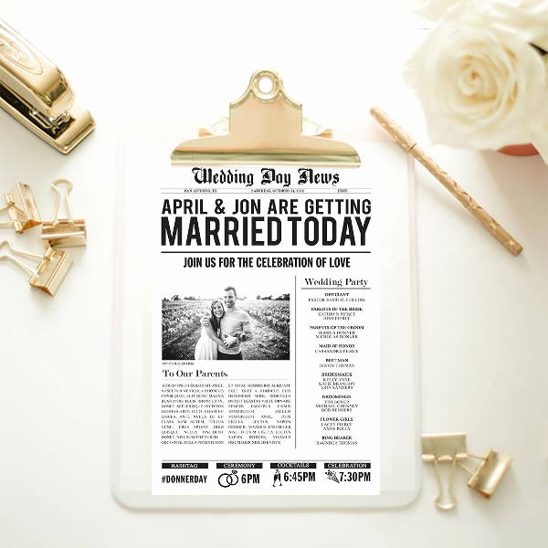 Newspaper Wedding Announcement Template Awesome Wedding Newspaper Templates 7 Word Pdf Psd Indesign